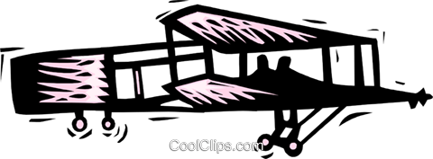 Wright brothers first flight Royalty Free Vector Clip Art illustration tran0897