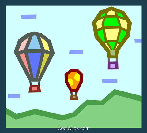 hot air balloons Royalty Free Vector Clip Art illustration tran0912