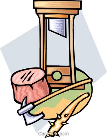 guillotine Royalty Free Vector Clip Art illustration trav0072