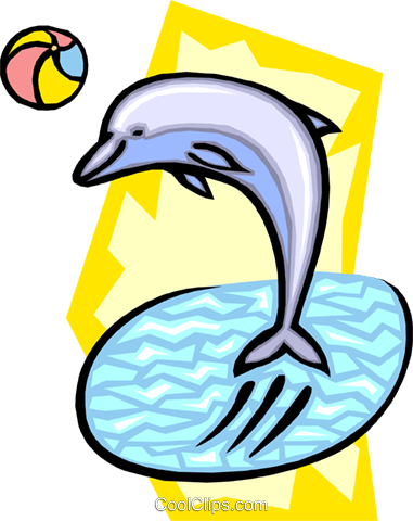 dolphin Royalty Free Vector Clip Art illustration anim1868