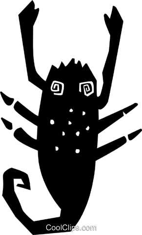 crustacean Royalty Free Vector Clip Art illustration anim1869