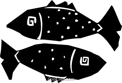 fish design Royalty Free Vector Clip Art illustration anim1870