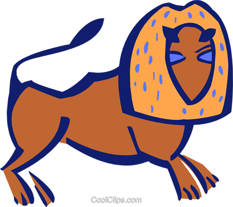 lion Royalty Free Vector Clip Art illustration anim1874