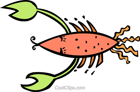 crustacean Royalty Free Vector Clip Art illustration anim1880