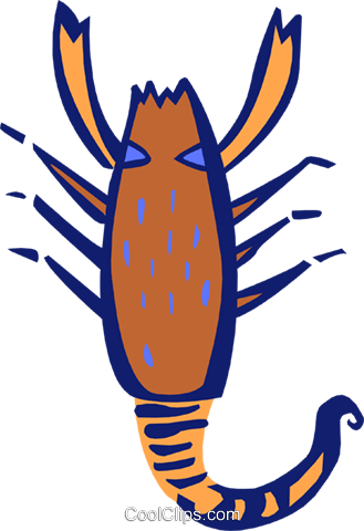 crustacean Royalty Free Vector Clip Art illustration anim1884