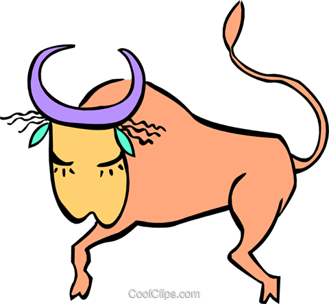 bull Royalty Free Vector Clip Art illustration anim1887
