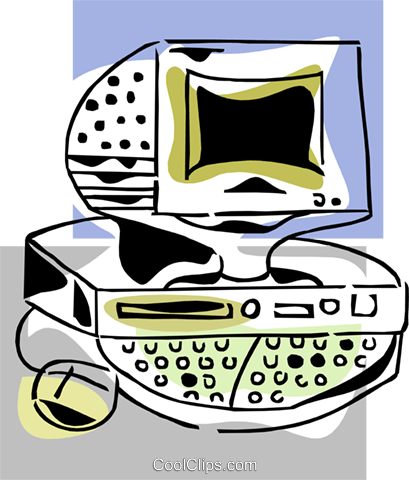 computer concept Royalty Free Vector Clip Art illustration busi1527