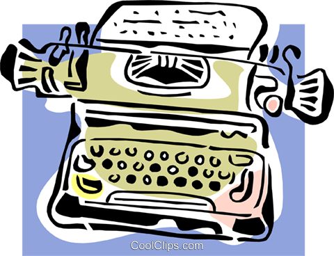 typewriter concept Royalty Free Vector Clip Art illustration busi1531