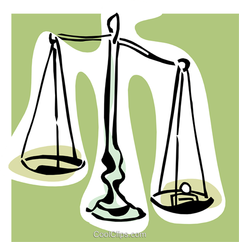 scales concept Royalty Free Vector Clip Art illustration busi1534