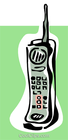 cellular phone concept Royalty Free Vector Clip Art illustration busi1535