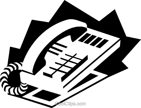 telephone concept Royalty Free Vector Clip Art illustration busi1550