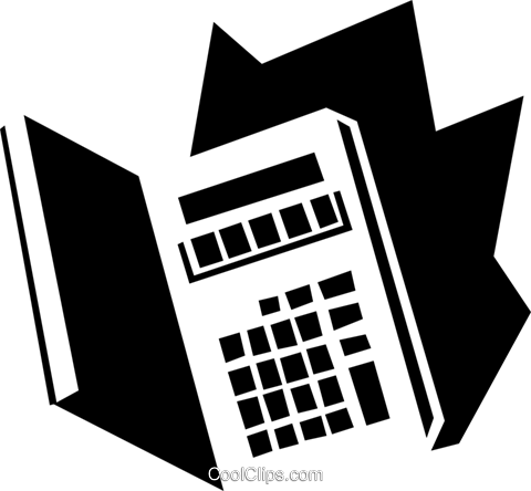 calculator concept Royalty Free Vector Clip Art illustration busi1551