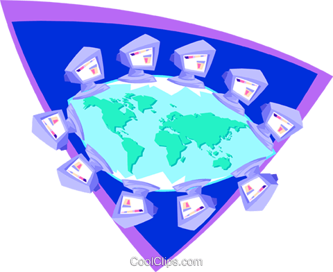 computer communications Royalty Free Vector Clip Art illustration busi1552