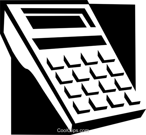 calculator concept Royalty Free Vector Clip Art illustration busi1558