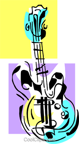 guitar Royalty Free Vector Clip Art illustration ente0108