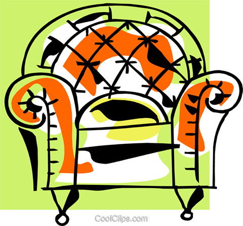 armchair Royalty Free Vector Clip Art illustration hous1261