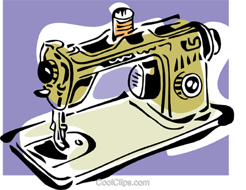 sewing machine Royalty Free Vector Clip Art illustration hous1265