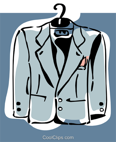 coat on hanger Royalty Free Vector Clip Art illustration hous1266