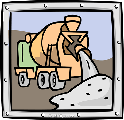 cement mixer Royalty Free Vector Clip Art illustration indu0873