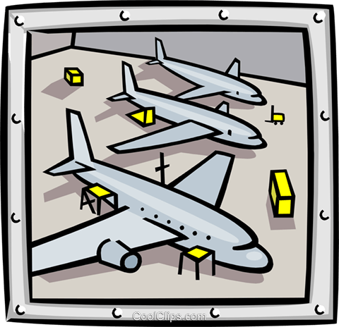 airplane bay Royalty Free Vector Clip Art illustration indu0881