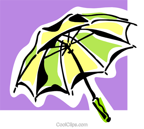 umbrella Royalty Free Vector Clip Art illustration natu0838