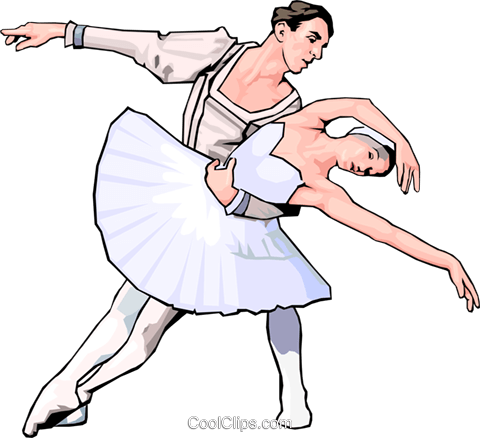 ballet Royalty Free Vector Clip Art illustration peop3010
