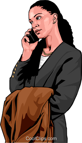 businesswoman on phone Royalty Free Vector Clip Art illustration peop3011