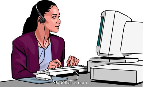 businesswoman Royalty Free Vector Clip Art illustration peop3013