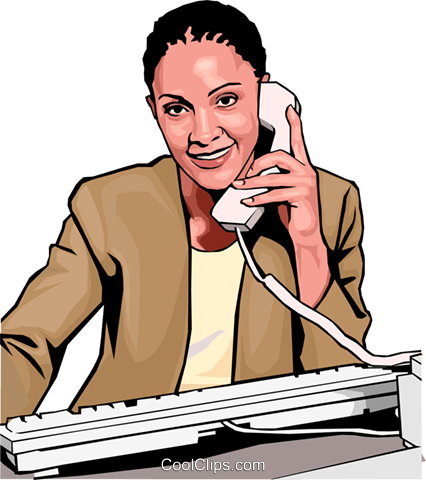 Businesswoman on phone Royalty Free Vector Clip Art illustration peop3015