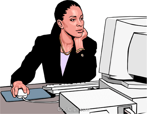 businesswoman Royalty Free Vector Clip Art illustration peop3016