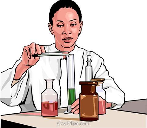 chemist Royalty Free Vector Clip Art illustration peop3018