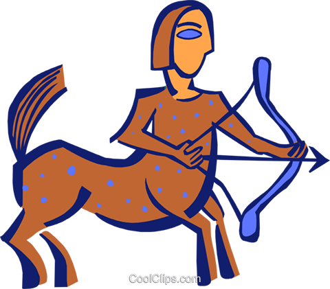 Sagittarius Royalty Free Vector Clip Art illustration spec0258