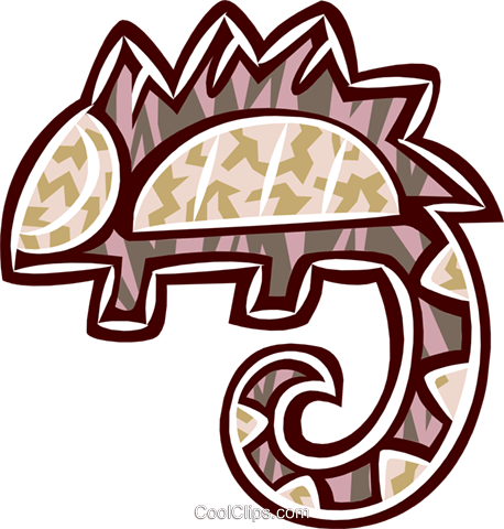 modern animal symbol Royalty Free Vector Clip Art illustration symb0053