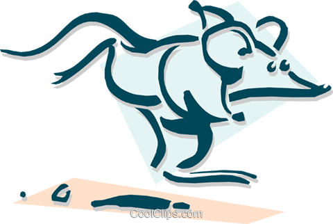 mouse running concept Royalty Free Vector Clip Art illustration anim1894
