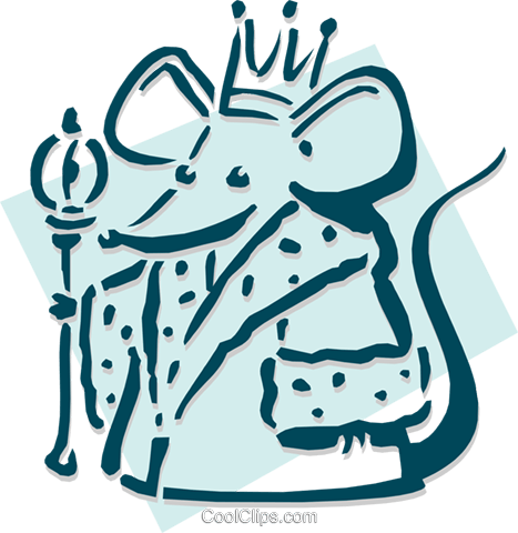 mouse king concept - chess Royalty Free Vector Clip Art illustration anim1900