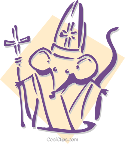 mouse bishop concept - chess Royalty Free Vector Clip Art illustration anim1902