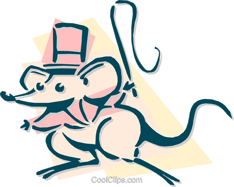 circus mouse ring leader concept Royalty Free Vector Clip Art illustration anim1917