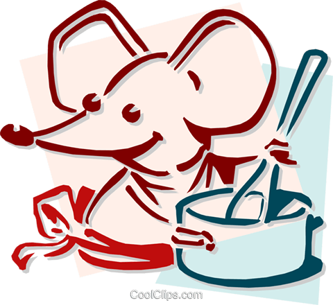 mouse cooking concept Royalty Free Vector Clip Art illustration anim1918