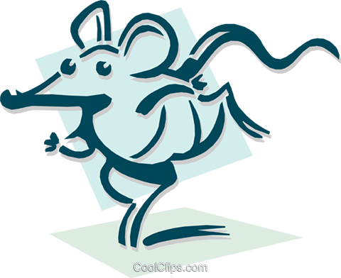 mouse running concept Royalty Free Vector Clip Art illustration anim1920