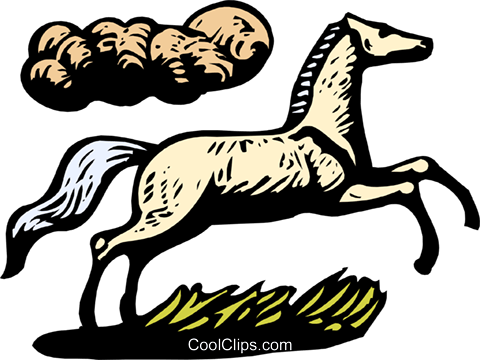 horse Royalty Free Vector Clip Art illustration anim1935