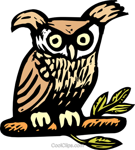 owl Royalty Free Vector Clip Art illustration anim1938