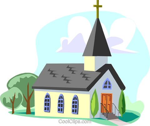 Traditional Church Royalty Free Vector Clip Art illustration arch0457