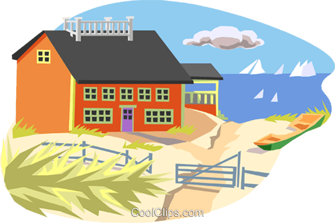 seashore Royalty Free Vector Clip Art illustration arch0459