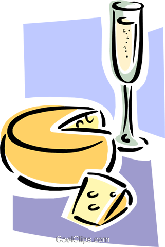 wine and cheese Royalty Free Vector Clip Art illustration food1034