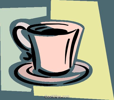 kaffeetasse auf untertasse vektor clipart bild food1035. Black Bedroom Furniture Sets. Home Design Ideas