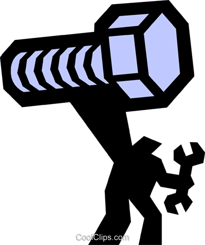 bolt and man Royalty Free Vector Clip Art illustration indu0884