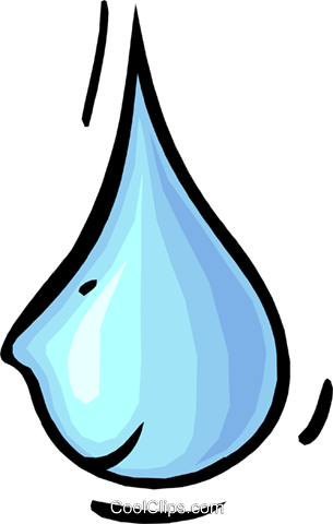water drop with face Royalty Free Vector Clip Art illustration natu0847