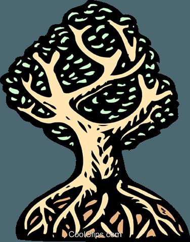 树 免版税矢量剪贴画插图