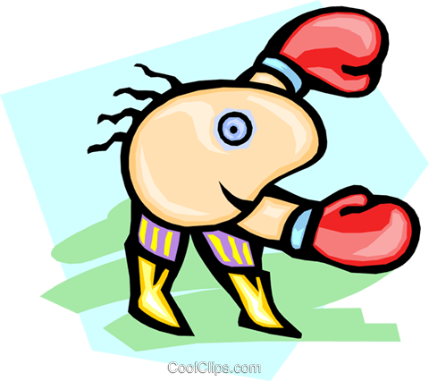 boxer Royalty Free Vector Clip Art illustration peop3031