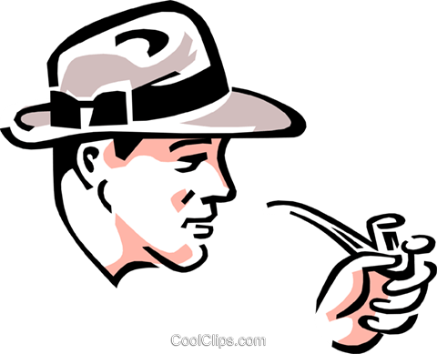 man with pipe Royalty Free Vector Clip Art illustration peop3052